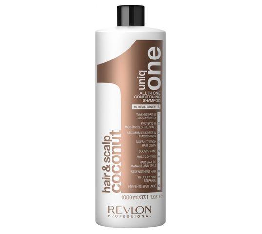 Revlon Professional Uniq One All In One Hair 10R Shampoo szampon do włosów dodający objętości Coconut 1000ml