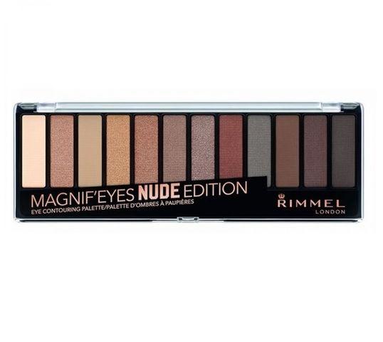 Rimmel Magnif'Eyes Eyeshadow Palette paleta cieni 001 Nude Edition 14,16g