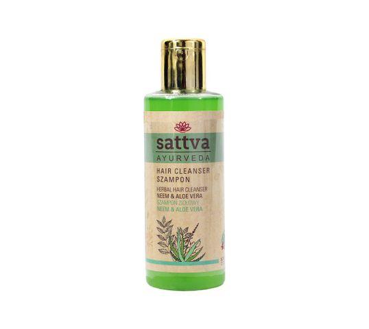 Sattva – Hair Cleanser szampon ziołowy Neem & Aloe Vera (210 ml)