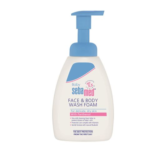 Sebamed Baby Face & Body Wash Foam delikatna pianka do mycia ciała i twarzy dla dzieci 400ml
