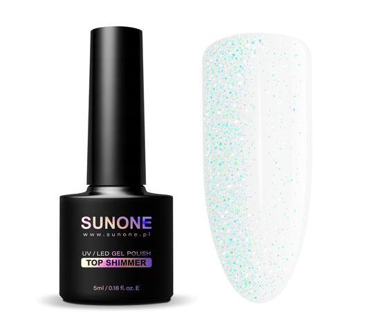 Sunone – UV/LED Gel Polish Top Shimmer top hybrydowy z drobinkami (5 ml)