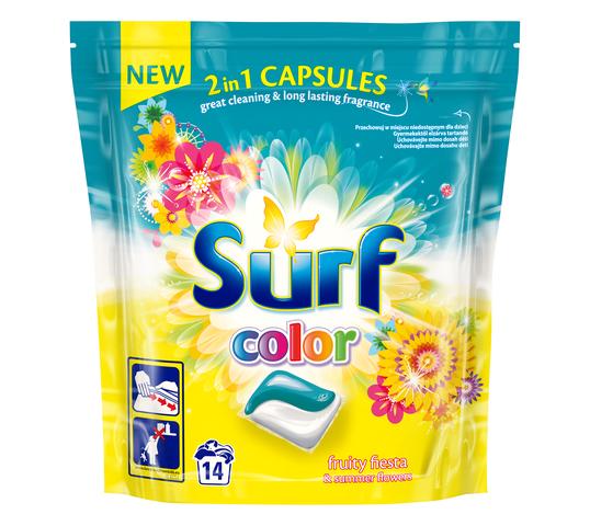 Surf Color Fruity Fiesta & Summer Flowers kapsułki do prania do koloru 14szt