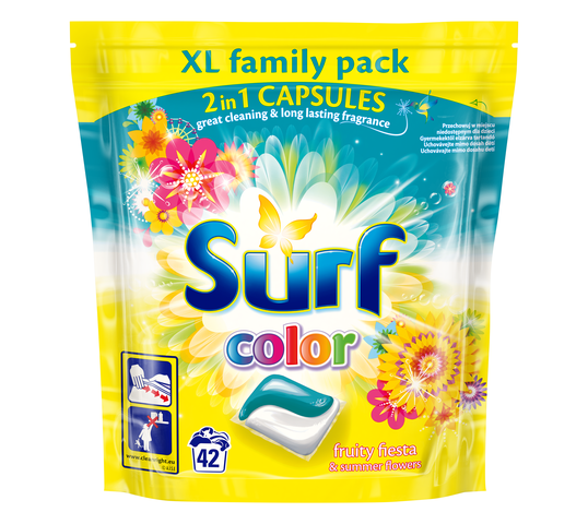 Surf Color Fruity Fiesta & Summer Flowers kapsułki do prania do koloru 42szt
