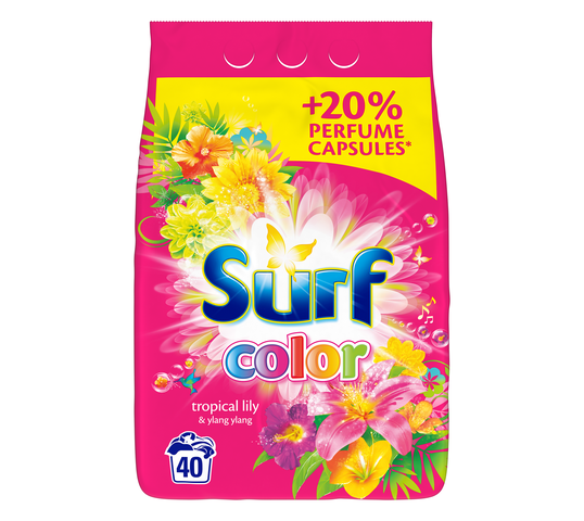 Surf Color Tropical Lily & Ylang Ylang proszek do prania do koloru 2,6kg