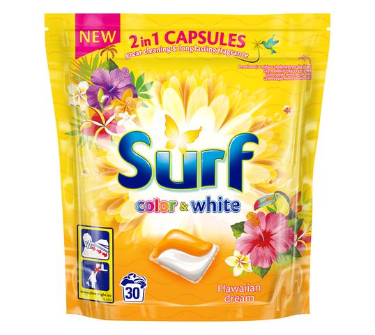 Surf Color & White kapsułki do prania 2in1 Hawaiian Dream 1 op. - 30 szt.