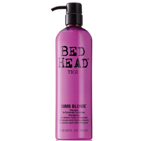 Tigi Bed Head Dumb Blonde Shampoo For Chemically Treated Hair szampon do włosów blond z pompką 750ml