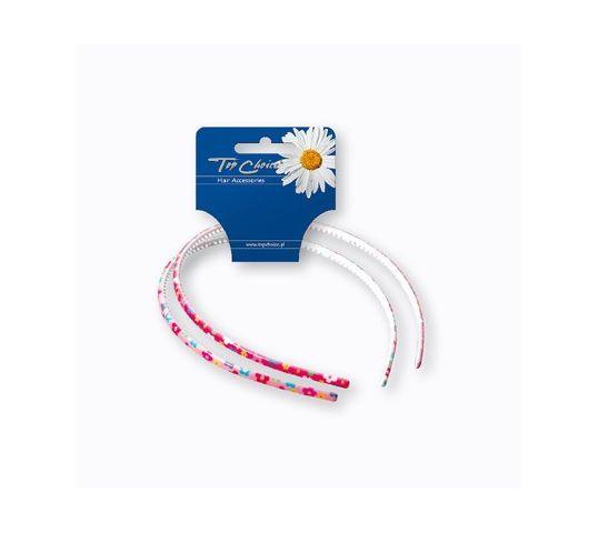 Top Choice Akcesoria do włosów Opaska w kwiatki (27475)  1op.-2szt