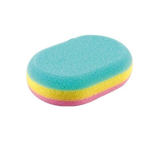 Top Choice gąbka do kąpieli owalna trójkolorowa (30468) 1 szt.