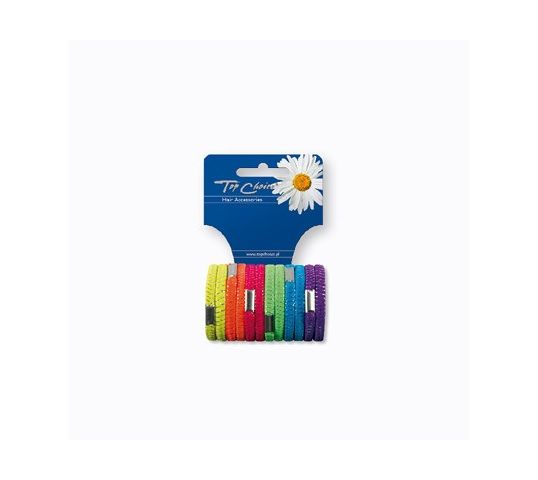 Top Choice gumki do włosów Neon (22470) 1 op - 12 szt.