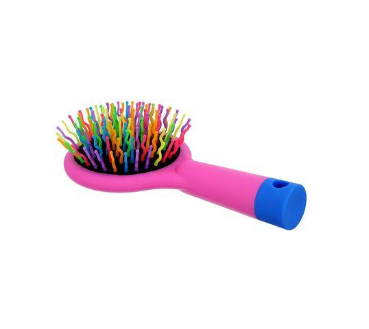 Twish Handy Hair Brush With Mirror szczotka do włosów z lusterkiem Rose Pink