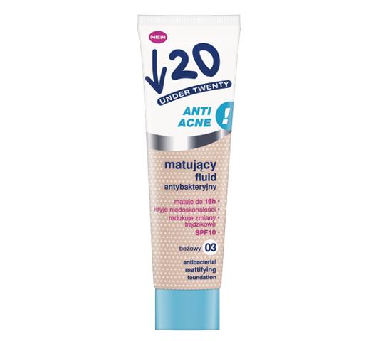 Under Twenty Anti Acne matujący fluid antybakteryjny 03 Beżowy 30ml