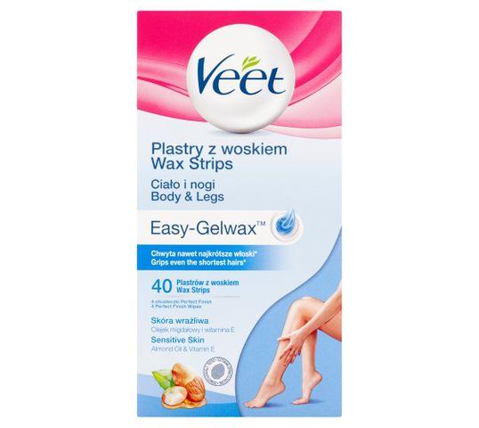 Veet Plastry z woskiem do depilacji nóg dla skóry wrażliwej 40szt