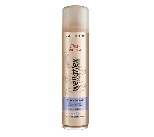 Wella  Wellaton Wellaflex Long Lasting Flexible Hold Hairspray bardzo mocno utrwalający lakier do włosów 4 Volume 400ml