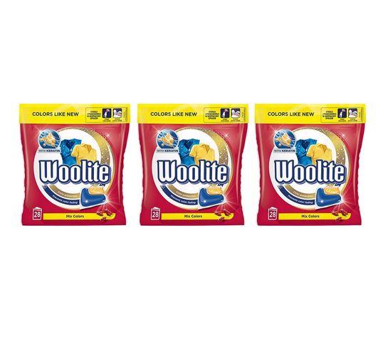 Woolite Mix Colors kapsułki do prania ochrona koloru 3x28szt