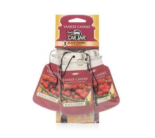 Yankee Candle Car Jar Bonus Pack zestaw zapachów samochodowych Black Cherry 3sztuki