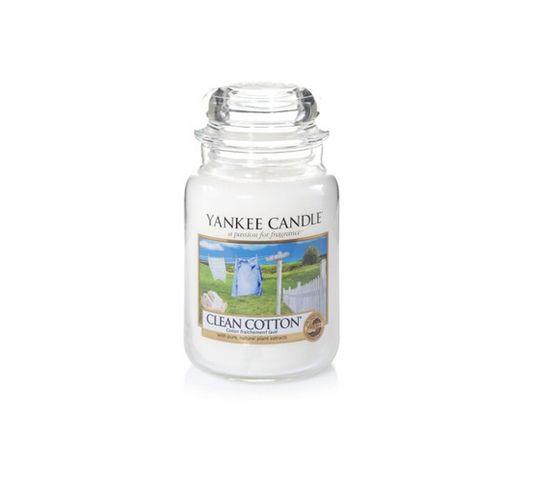 Yankee Candle Świeca zapachowa duży słój Clean Cotton® 623g