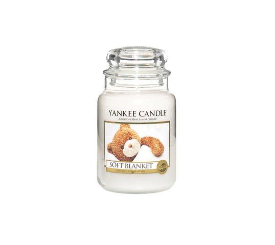 Yankee Candle Świeca zapachowa duży słój Soft Blanket 623g