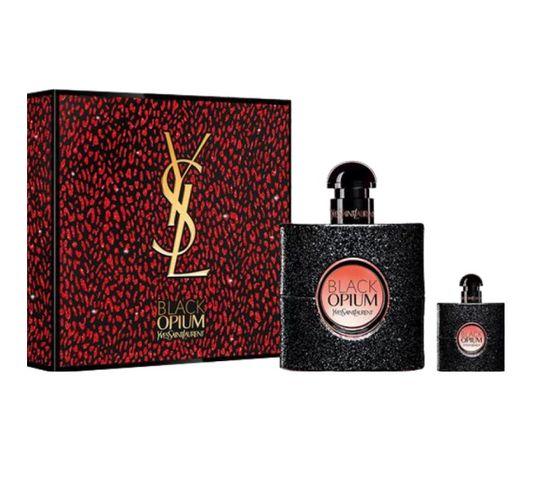 Yves Saint Laurent Black Opium zestaw woda perfumowana spray 50ml + miniatura wody perfumowanej spray 7.5ml (1 szt.)