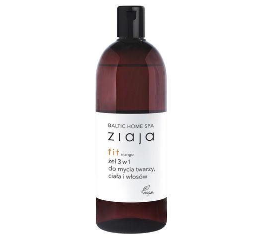 Ziaja Baltic Home Spa Fit żel 3w1 do mycia twarzy ciała i włosów Mango (500 ml)